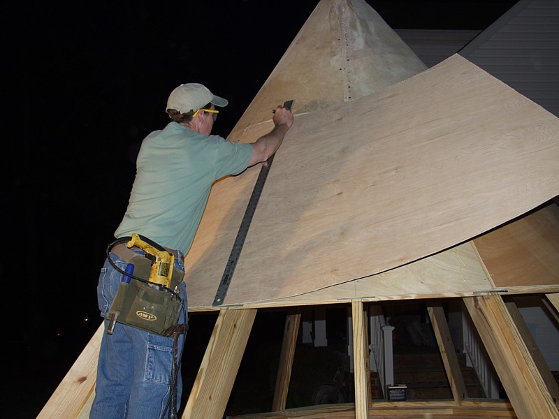 Shingling A Round Roof